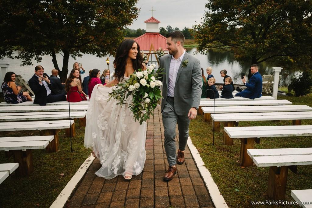 Covid wedding, boho wedding, Laurel Haven Estate wedding ceremony