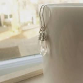 zilveren druppel oorbellen