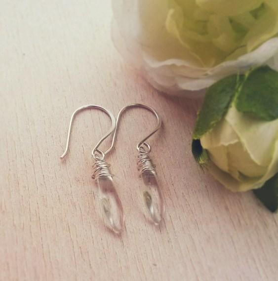 silverdropearrings