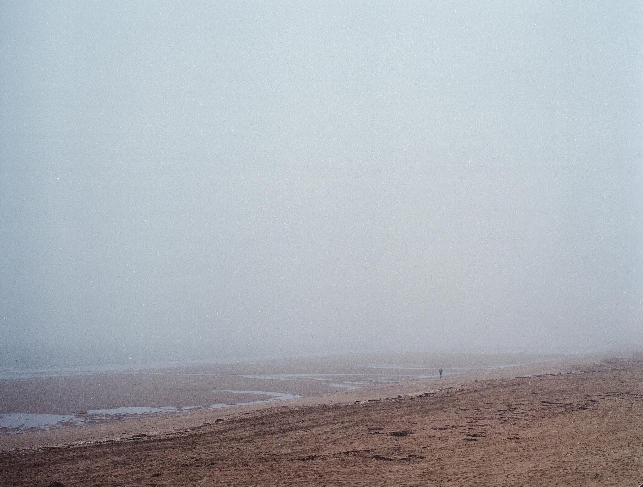 seascape under fog