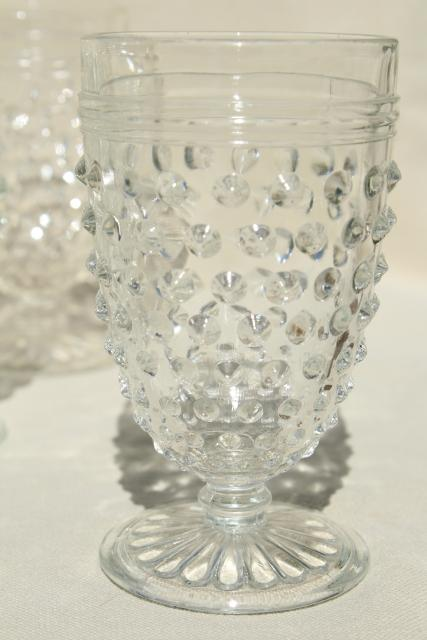 1930s Vintage Hobnail Glass Wine Glasses Amp Footed Tumblers