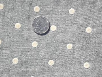vintage sewing notions & feed sack fabric