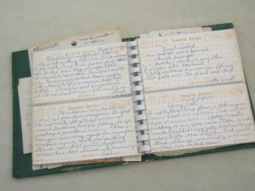vintage metal recipes box lot of hand written typed recipe cards