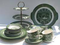 Colonial Homestead pattern dishes, vintage Royal china set ...