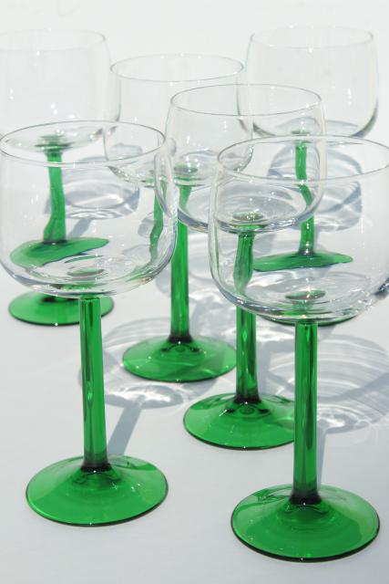 Cristal DArques France Hock Wine Glasses Crystal Clear