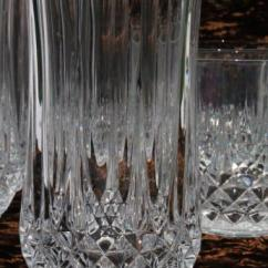 Kitchen Table With Leaf Cabinet Door Fronts Cristal D'arques Longchamp French Crystal Tumblers, High ...