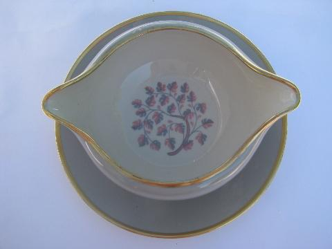 Flintridge china Miramar shape gravy or sauce bowl w