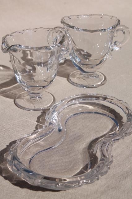 Fostoria Century Pattern Vintage Glass Mini Creamer