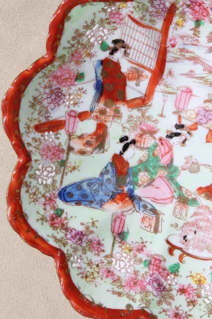 Geisha girl handpainted china vintage Japan Geishaware