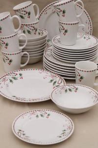 Christmas Pattern Dinnerware & Evergreen Dinner Plate Sc 1 ...