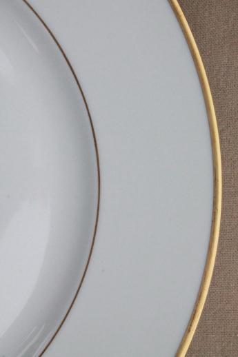 Heinrich H Amp Co Mark Porcelain Dinner Plates Deco Vintage Gold Band Wedding Ring China