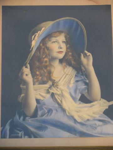 Just Like Mother 1940s vintage photo print little girl