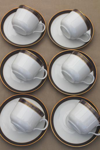 Kahla GDR Germany Porcelain Demitasse Coffee Cups