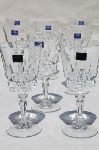 Lady Victoria label crystal wine glasses Cris dArques France Chantelle pattern glass