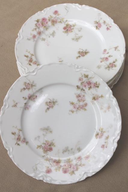 Marie pink floral vintage Haviland Limoges china small