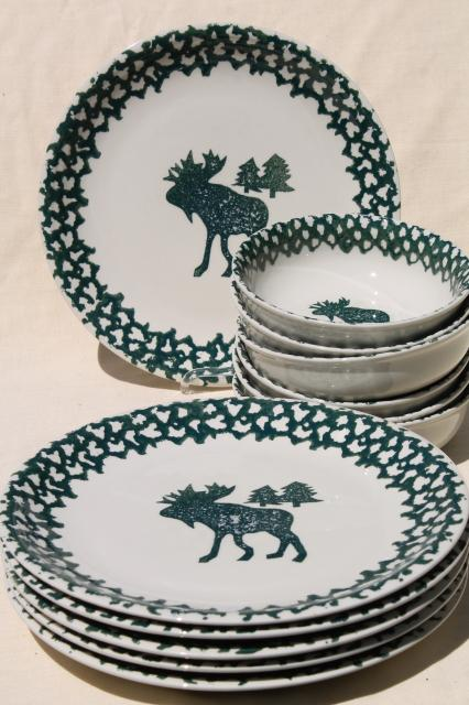 Moose Dinnerware Set : moose, dinnerware, Moose, Dinner