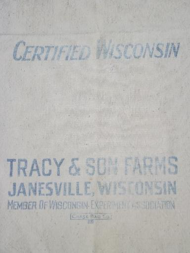Tracy's seed corn Janesville Wisconsin primitive old