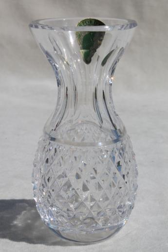 Waterford Crystal Colleen Bud Vase W Original Label