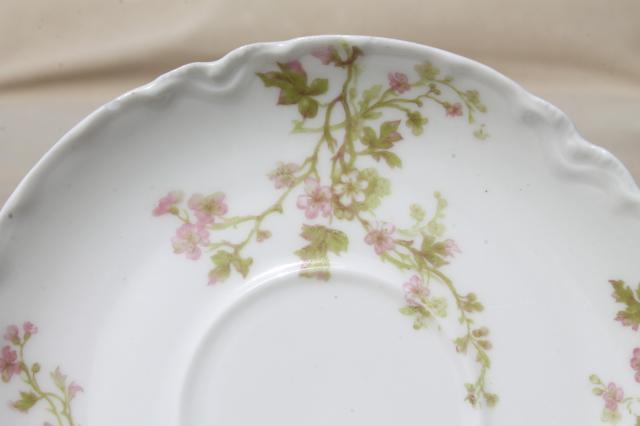 antique Haviland Limoges china cups  saucers set for 12