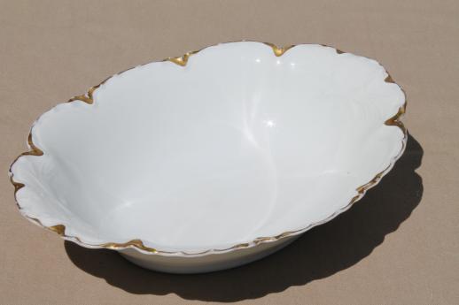 antique Haviland  Limoges oval bowl pine flower embossed