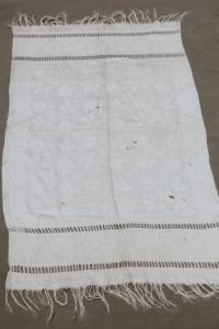 antique linen damask cloth towel with elaborate drawn ...