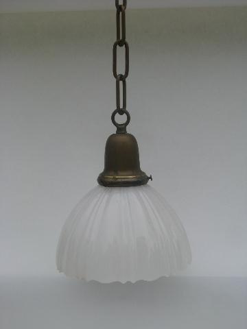 Wiring A Kitchen Light Fixture Antique Solid Brass Pendant Light Fixture Early 1900s
