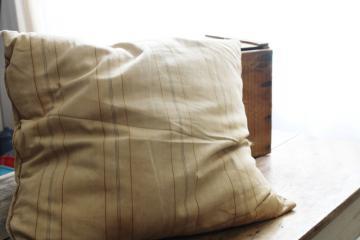 vintage ticking feather pillows ticks