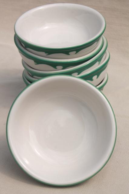 glass kitchen table set robot deco airbrush stencil china restaurant ware bowls, vintage ...