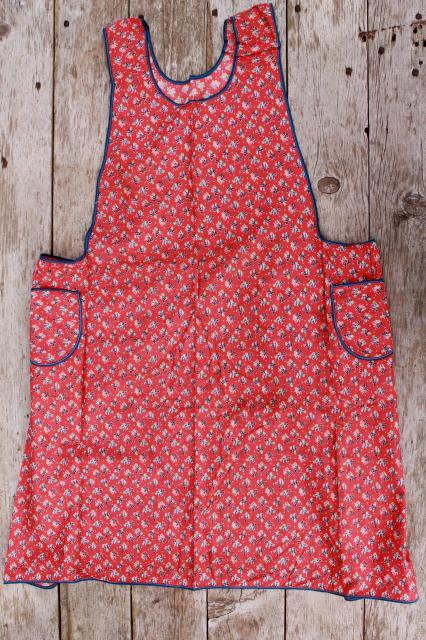 rugs for kitchen black mat depression era vintage print cotton feedsack aprons, farm ...