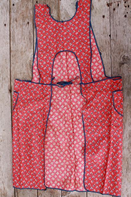 rugs for kitchen faucet extension hose depression era vintage print cotton feedsack aprons, farm ...