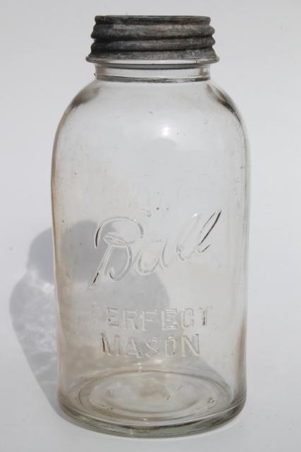 half gallon vintage Ball Perfect Mason jar large pickle