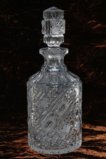 Lead Crystal Glass Decanter Bottle Wine Decanter Or