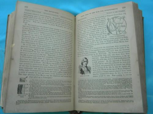 lot antique 1800s school books American history engraved illustrations