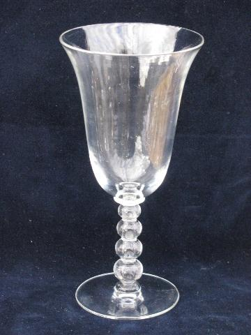 lot of 10 water glasses or wine goblets vintage Imperial candlewick glass