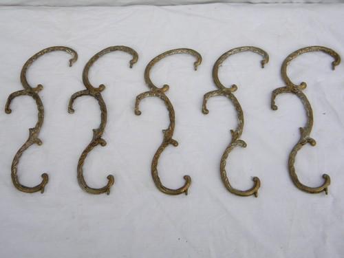 Lot Of Vintage Ornate Brass Chandelier Prism Arms Parts For Restoration