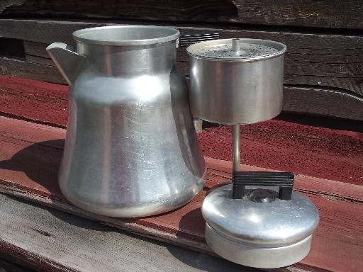Old WearEver 3012 Aluminum Coffee Pot Percolator For Camp