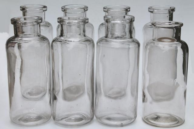 old glass apothecary bottles vintage clear glass jars