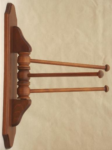 kitchen towel bars cabinet door handles primitive pine hanger vintage wall mount drying rack