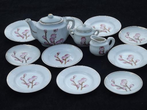 Pussy Willow Babies Childs China Tea Set Vintage Japan