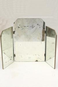 shabby vintage triptych panel folding mirror, three way ...