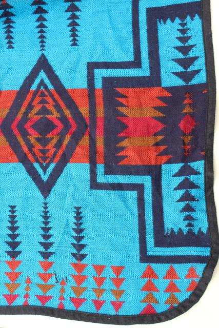 Soft Vintage Camp Blanket Chief Joseph Pattern Indian Blanket Pendleton Wool