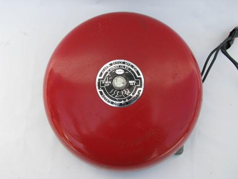 Vintage 1950s Industrial Machine Age Fire Alarm Bell