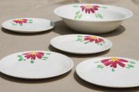 Red Flower Dinnerware - Home Ideas