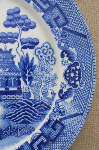 Vintage Blue Willow China Made In Japan Porcelain Dishes