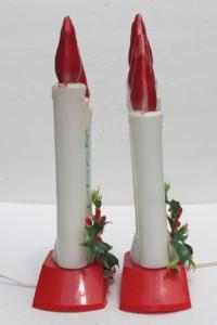 vintage Empire plastic blow mold Christmas candles ...