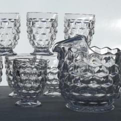 Farm Style Kitchen Table Design Center Vintage Fostoria American Ice Tea Pitcher & Glasses, 8 ...