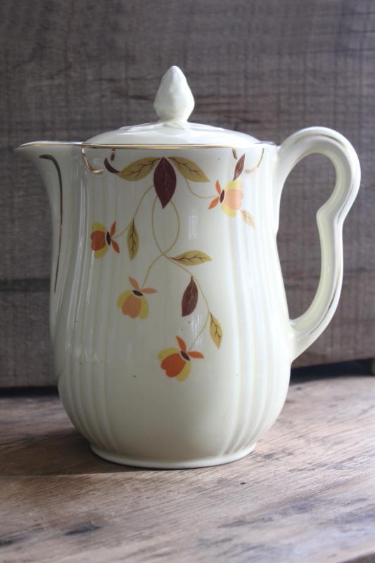 Jewel Tea Autumn Leaf : jewel, autumn, Vintage, China, Autumn, Jewel, Coffee, Rayed, Shape