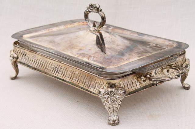 Antique Silver Chafing Dish  Best 2000 Antique decor ideas