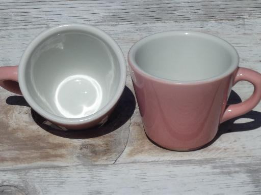 Vintage Shenango Ironstone China Coffee Cups Retro Diner