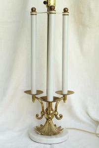 vintage Stiffel french bouillotte lamp, heavy brass ...
